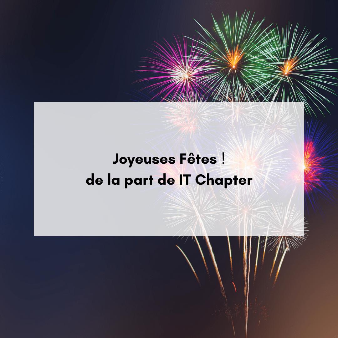 Joyeuses Fêtes de la part de IT Chapter!