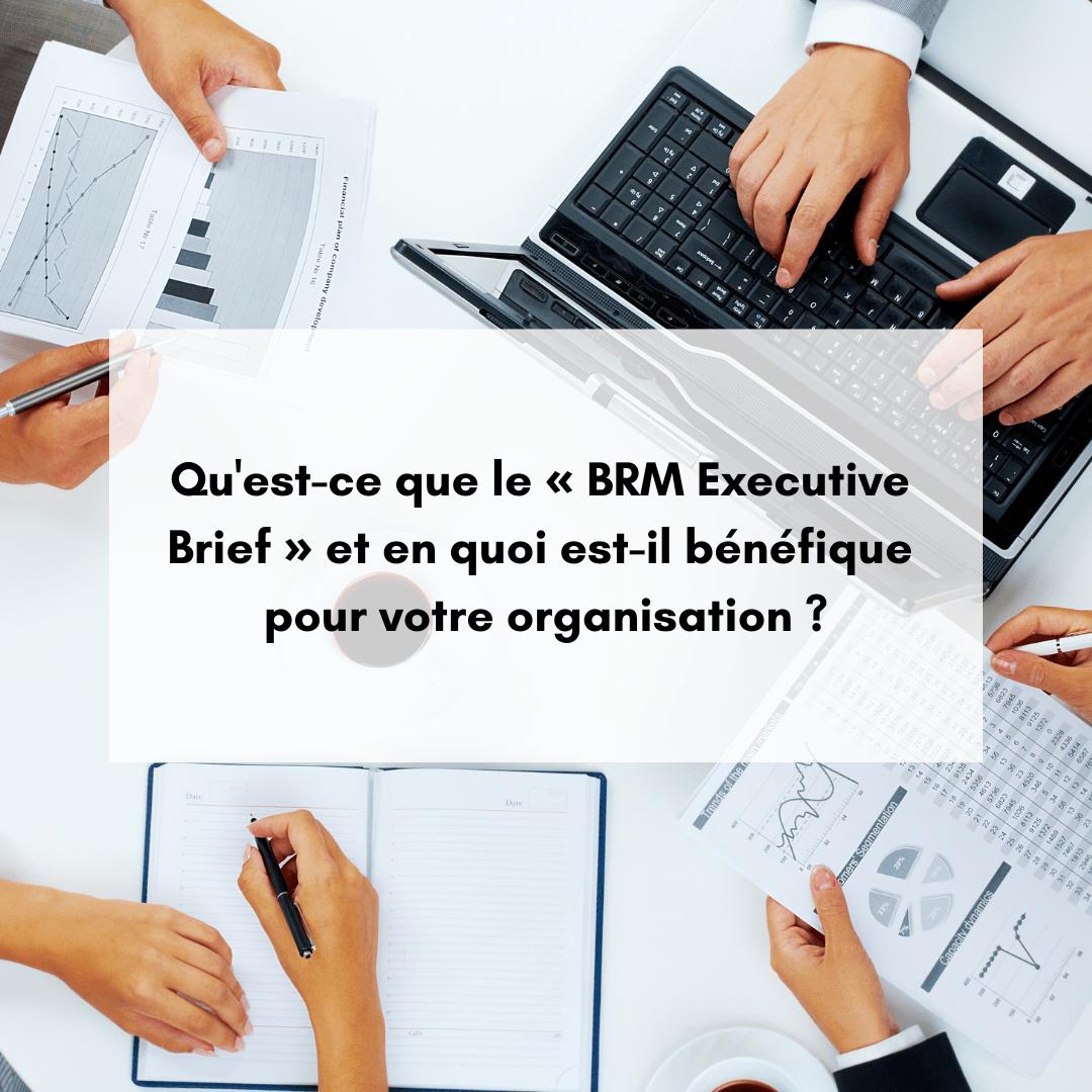 Qu'est-ce que le « BRM Executive Brief » et en quoi est-il bénéfique pour votre organisation ?